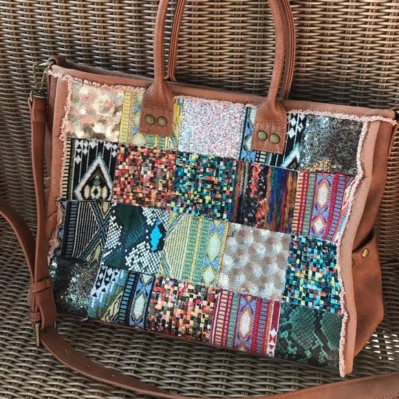 Antik Kraft Handbags - Antik Kraft boho patchwork purse